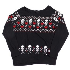 Skulls and Hearts Sweater